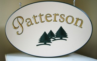 Patterson – Engraved Sign Foam