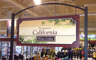 Store Signage – Wine Department