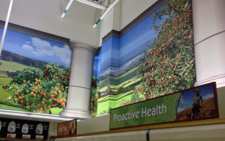 Store Signage – Printed Wall Covering