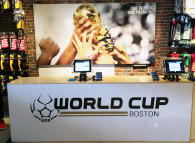 World Cup Boston Interior Signage