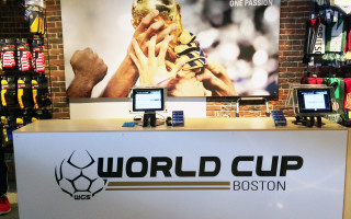 World Cup Boston Interior Signage