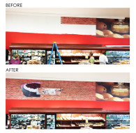 Before & After Store Decor