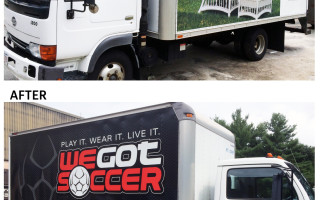 Before & After Truck Wrap