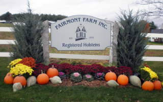 Engraved Fairmont Farm Sign