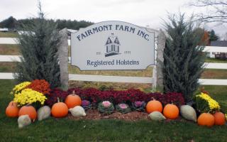 Engraved Fairmont Farm Sign