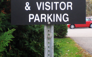 Engraved Parking Sign